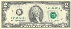 ۲ دلار جلو